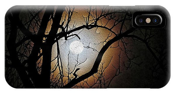 Full Moon Oil Painting IPhone Case