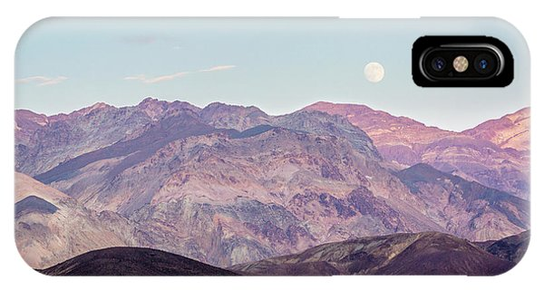 Full Moon Over Artists Palette IPhone Case