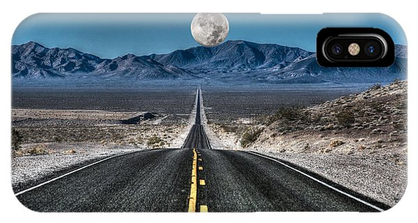 Full Moon Over Death Valley IPhone Case