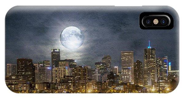 Full Moon Over Denver IPhone Case