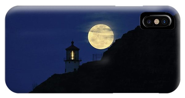 Full Moon Over Makapu'u Light IPhone Case
