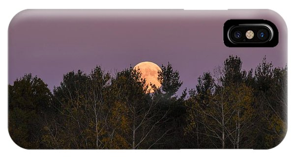 Full Moon Over Orchard IPhone Case