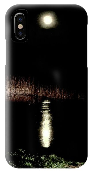 Full Moon Over Piermont Creek IPhone Case
