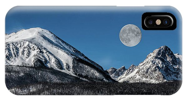 Full Moon Over Silverthorne Mountain IPhone Case