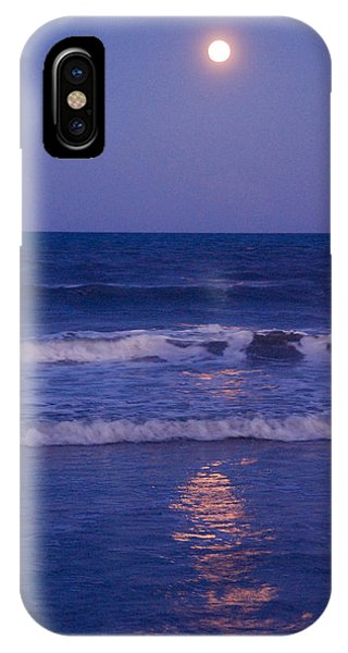 Full Moon Over The Ocean IPhone Case
