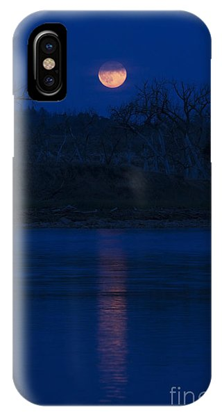 Full Moon Over The Tongue IPhone Case