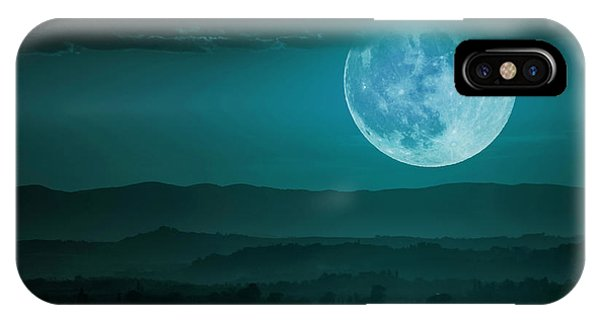 Full Moon Over Tuscany IPhone Case