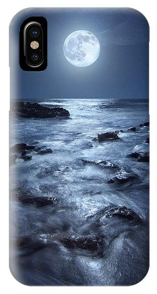 Full Moon Rising Over Coral Cove Beach In Jupiter, Florida IPhone Case