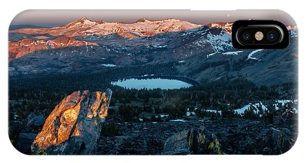 Desolation iPhone Case - Full Moon Set Over Desolation Wilderness by Mike  Herron