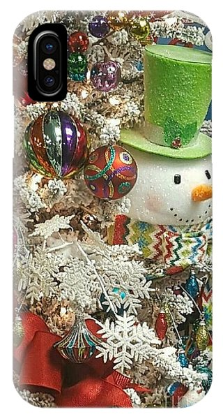 Fun Snowman Holiday Greeting IPhone Case
