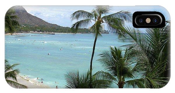 Fun Times On The Beach In Waikiki IPhone Case