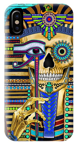 Funky Bone Pharaoh IPhone Case
