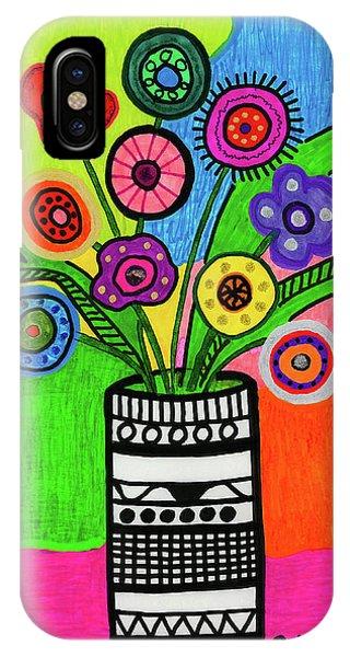 Funky Folk Flowers IPhone Case