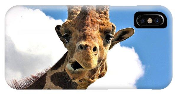 Funny Face Giraffe IPhone Case