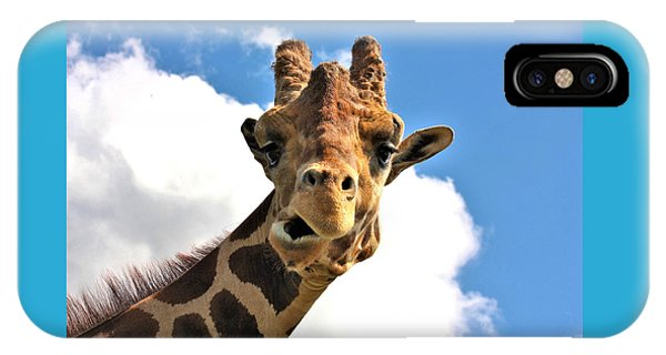 Funny Face Giraffe IPhone Case