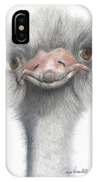 IPhone Case featuring the drawing Funny Face by Phyllis Howard