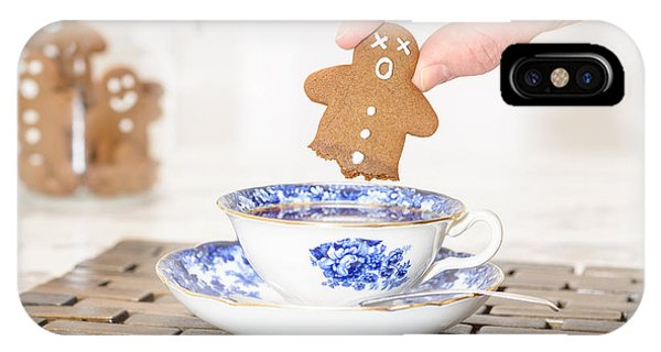 Saucer iPhone Case - Funny Gingerbread by Amanda Elwell