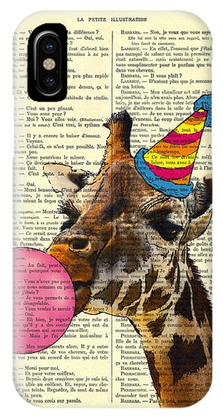 Celebration iPhone Case - Funny Giraffe, Dictionary Art by Madame Memento
