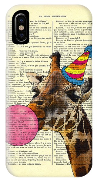 Giraffe iPhone Case - Funny Giraffe, Dictionary Art by Madame Memento