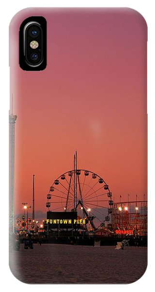 Funtown Pier At Sunset II - Jersey Shore IPhone Case