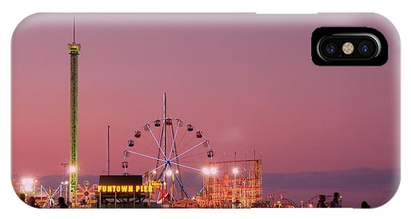 Funtown Pier At Sunset IIi - Jersey Shore IPhone Case
