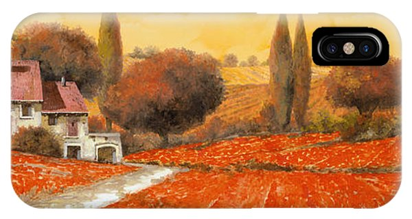 Arched iPhone Case - fuoco di Toscana by Guido Borelli