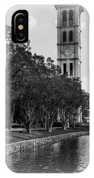 Furman University Bell Tower Greenville South Carolina Black And White IPhone Case