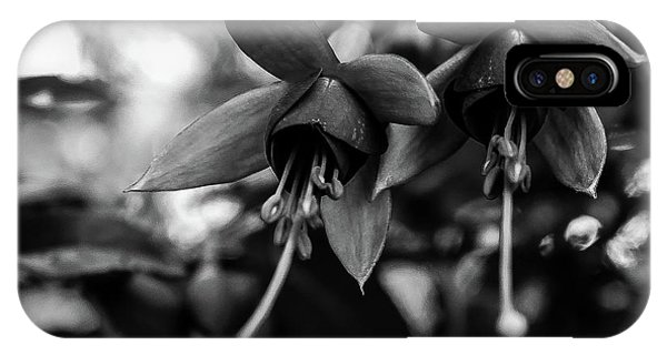 Fuchsia, Black And White IPhone Case