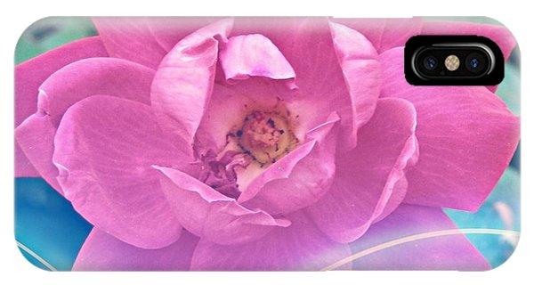 Fuschia Flower Energy IPhone Case