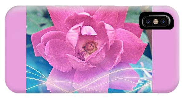 Fuschia Flower Energy IPhone Case