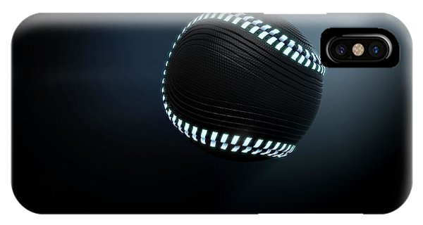 Developed iPhone Case - Futuristic Neon Sports Ball by Allan Swart