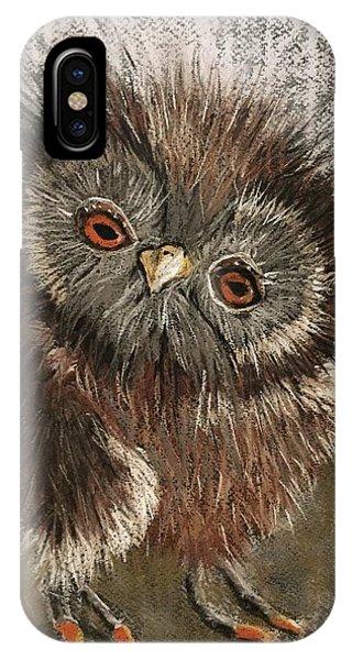Fuzzy Owl IPhone Case