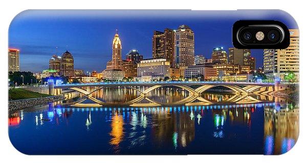 Fx2l531 Columbus Ohio Skyline Photo IPhone Case