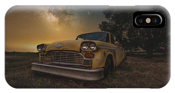 Astro iPhone Case - Galactic Taxi by Aaron J Groen