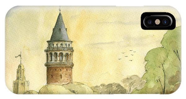 Turkey iPhone Case - Galata Tower Istanbul by Juan Bosco