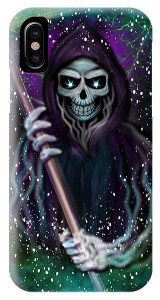 Galaxy Grim Reaper Fantasy Art IPhone Case