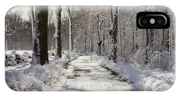 Gales Ferry Winter Wonderland IPhone Case