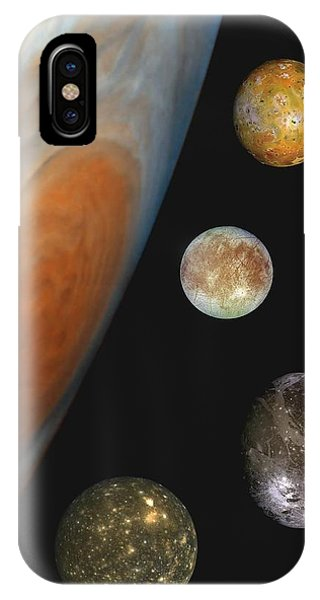 Galilean Moons Of Jupiter IPhone Case