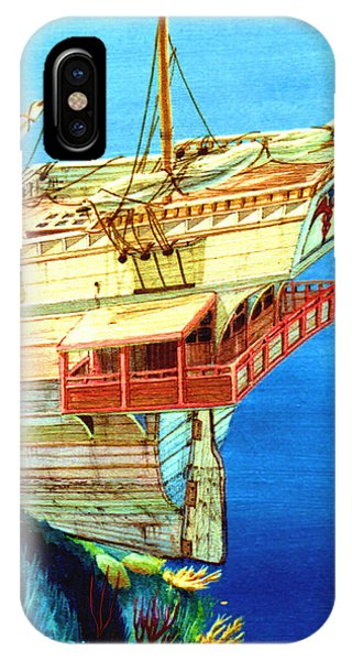 Galleon On The Reef 2 Filtered IPhone Case