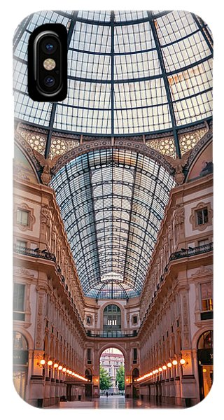 Window Shopping iPhone Case - Galleria Milan Italy by Joan Carroll
