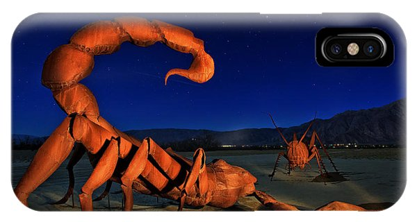 Galleta Meadows Estate Sculptures Borrego Springs IPhone Case