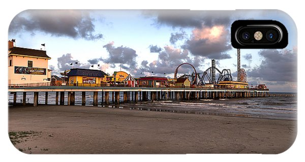 Galveston Island Historic Pleasure Pier IPhone Case