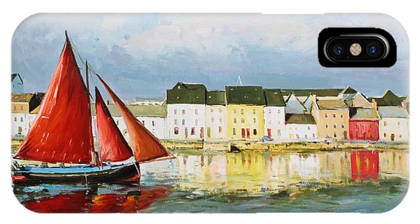 Irish iPhone Case - Galway Hooker Leaving Port by Conor McGuire