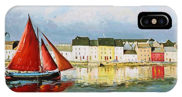 Galway Hooker Leaving Port IPhone Case