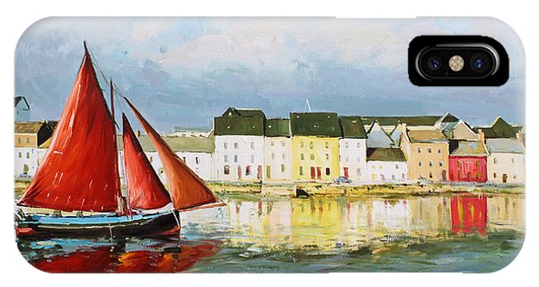 Fishing Boat iPhone Case - Galway Hooker Leaving Port by Conor McGuire