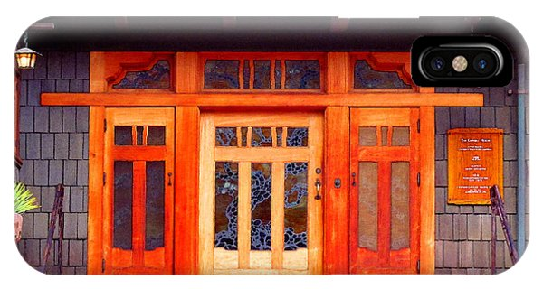 Gamble House Entry IPhone Case