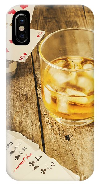 Whiskey iPhone Case - Gamblers Still Life by Jorgo Photography - Wall Art Gallery