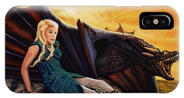Dragon iPhone Case - Game Of Thrones Painting by Paul Meijering