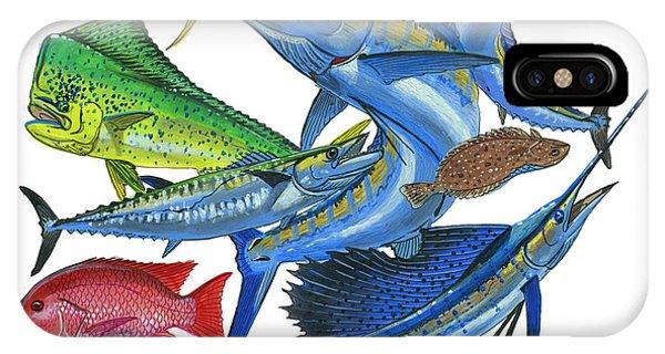 Swordfish iPhone Case - Gamefish Collage by Carey Chen