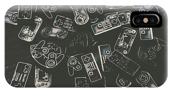 Electronic iPhone Case - Gamers Of Arcade  by Jorgo Photography - Wall Art Gallery